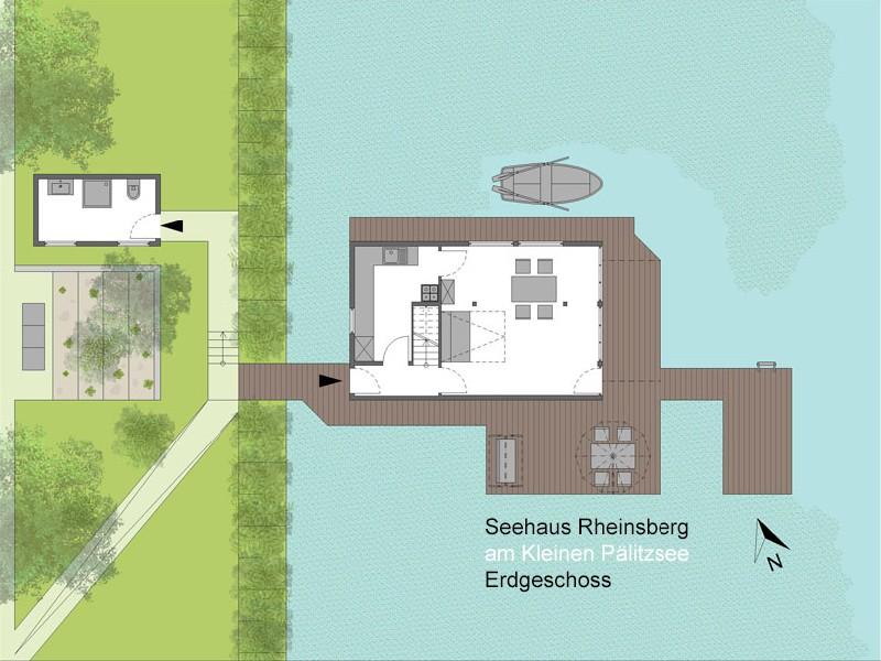Boots- und Seehaus im Kleinen Pälitzsee